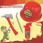 Fireman Police Engineer Helmet SuitRole Play Equipment Set Creative Plastic