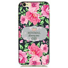 Soft silicone cover Vintage Style MINIMAL Floral Flower iPhone 5,5s,6,6S,7,7+