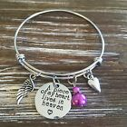 A Piece Of My Heart Lives In Heaven Memorial Bracelet Memorial Gift Family Loss
