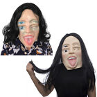 Halloween Creepy Full Face Latex Devil Evil Mask Ghost Wig Head Cosplay Props