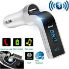 G7 Hands-free Bluetooth Car Kit FM Transmitter USB Charger Adapter MP3 Player YU