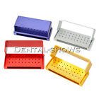 30 Holes Aluminium Dental Bur Box FG Burrs Holder Block Case Disinfection Box