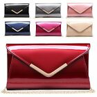 Ladies Patent Leather Clutch Bag Evening Cocktail Party Bridal Handbag MP0010