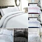 Embroidered Duvet Cover Bedding Sets Single Double King Hotel Quality Modern