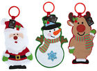 handcrafted DOOR HANGER felt Christmas tree decoration santa snow man riendeer