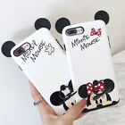 Dual Layer Cute Mickey Minnie Ring Holder Soft Case Cover for iPhone 8 6S 7 Plus