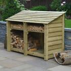 Hambleton 4ft Outdoor Wooden Log Store - Also Available With Doors- UK Hand Made