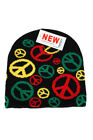 Rasta Peace Sign Ski Beanie Winter Hat Cap Kintted