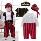 Baby Boy Girl Halloween Pirate Costume Fancy Outfit Clothes Cosplay Party Set