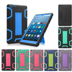 Hybrid Full Body Protective Case Cover for Amazon Fire HD 8''8/7th Gen 2018/2017