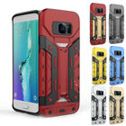 Armor Card Pocket Shockproof Rugged Stand Case For Samsung Galaxy S7 J7 Note 5