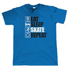 Eat Sleep Skate Repeat, Mens Funny, Sporting T Shirt, Gift Dad