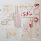 HEN PARTY PHOTO BOOTH PROPS -Accessories/Selfie/Game/Dress Up - TEAM BRIDE RANGE