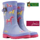 Joules Girls Horse Stripped Welly. (U).