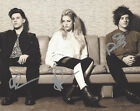 LONDON GRAMMAR BAND SIGNED AUTHENTIC 8X10 PHOTO E COA BRITISH INDIE POP GROUP X3