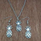 Pineapple fruit  Ancient silver Necklace & earrings Fashion Jewelry 1 set gift