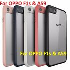 *Frosted Bordered ShockProof* Hybrid PC + TPU Back Cover Case For OPPO F1s & A59