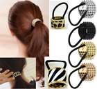 Punk Fake Metal Hair Cuff Ponytail Clip Tie Holder Band Elastic Wrap Dance Belle