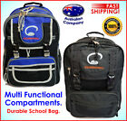 Durable bag NEW School Backpack, Multi functional compartments black, blue #3126