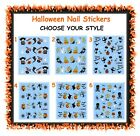 Halloween nail stickers decals - Not full nail - cat ghost pumpkin witch spider