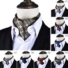 Fashion Mens Suits Towel Scarf Neckline Variety Colors Suit Retro Polyester Silk