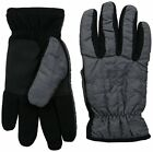 Timberland Men's Quilted Nylon Touchscreen Gloves Charcoal Grey Small / Medium