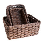 Unusual Oblong Rattan Wicker Storage Baskets Display in a Choice of 4 sizes