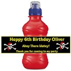8 x Pirate Personalised Self Adhesive Fruit Shoot Bottle Labels Birthday Party