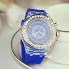Fashion Women Lady Gir LED Backlight Crystal Quartz Wrist Watch Luxury Watches
