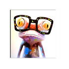 Cute Abstract Colorful glasses frog Canvas Print Oil Painting Wall Art Mural 1pc