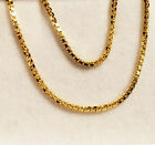 """18k solid yellow gold(1.2mm)box chain(16""""/18""""/20""""/22""""/24"""")"""
