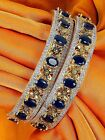 384 Bracelets Bangles American Diamond Jewellery Indian Gold Plated Costume Kada