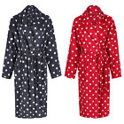 Marks & Spencer Womens Soft Fleece Spotted Dressing Gown New M&S Long Warm Robe