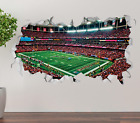 Atlanta Falcons Stadium Team Wall Decal 3D Smashed Sticker Mural Decor NFL OP257 on eBay