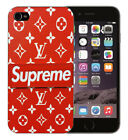 new supreme red pattern cool design hard plastic back case cover for iphones