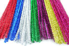"25 - 100 x Glitter / Tinsel Pipe Cleaners 12 "" / 30cm Length - Kids Xmas Crafts"