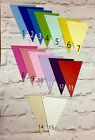 PRE PAINTED WOODEN BUNTING TRIANGLES VERY HIGH QUALITY SMOOTH FINISH