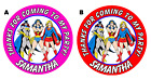 DC COMICS SUPERHERO GIRLS BIRTHDAY ROUND PARTY STICKERS FAVORS ~ VARIOUS SIZES
