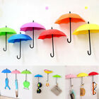 Cute Umbrella Wall Mount Key Holder Wall Hook Hanger Organizer 3PC/Set