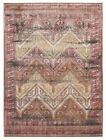 Contemporary Babylon Design Sekhmet Washed out Floor Area Rug Red