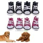Внешний вид - 4pcs Pet Dog Boots Puppy Denim Sports Anti-slip Shoes Sneakers For Small Dogs