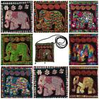 NWT Elephant Sequin Coin Change Purse Embroidered Detail Colourful Indian Ethnic
