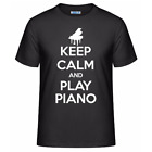 Keep Calm And Play Piano Men's Unisex T-Shirt Funny Music Pianist Gift Tee Shirt