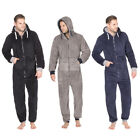 ONEZIE All-In-One Mens Snuggle Zip Up Super Soft Fleece Hooded Warm Jumpsuit