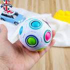 10X Magic Rainbow and White Spherical Ball Shaped Creative Cube Puzzle Twist Toy