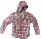 Boston Traders Women's Sherpa Lined Flannel Shirt Red/Grey