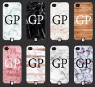 Initials On Marble / Wood Phone Case Cover 5 SE 6 7 S6 S7 S8 +  m4a