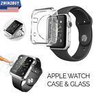 Apple Watch iWatch Series3/2/1 TPU Clear Case Cover + Tempered Glass 42&38MM