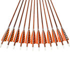 """30"""" Feather Carbon Arrows SP400 Wood Camo Shaft Archery Outdoor Target Hunting"""