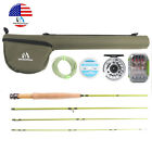 For Small Stream Fly Rod Outfit 2wt 3wt 6' 7.5' Fly Fishing Reel Line Backing